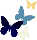 butterflies preart decor